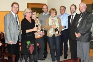 vlnr: Theo Hoffmann,Erika Kuczera, Erna Strottner, Gerhard Ohler, Annelore Rheinwald, Jürgen Morlock, Dr. Klaus Iselborn, Bernd Kaufmann